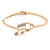 Gold Plated, Crystal Musical Note Bracelet - 17cm L