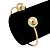 Gold Plated Double Ball Cuff Bangle Bracelet - 18cm L - Adjustable - view 5