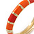 Bright Orange Enamel Hinged Bangle Bracelet In Gold Plating - 19cm L - view 6