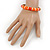 Bright Orange Enamel Hinged Bangle Bracelet In Gold Plating - 19cm L - view 3