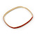 Set Of 3 White/ Red/ Blue Enamel Square Slip-On Bangle In Gold Plating - 19cm Length - view 8