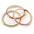 Set Of 3 Cream/ Beige/ Pink Silk Twisted Cord Slip-On Bangle In Gold Plating - 19cm Length - view 5