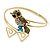 Vintage Inspired Crystal Owl Upper Arm, Armlet Bracelet In Burnt Gold Tone - 27cm L - Adjustable - view 12