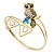 Vintage Inspired Crystal Owl Upper Arm, Armlet Bracelet In Burnt Gold Tone - 27cm L - Adjustable - view 2