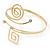 Polished Gold Tone, Crystal Swirl Cirle and Square Motif Upper Arm, Armlet Bracelet - 27cm L - Adjustable - view 12