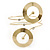 Contemporary Open Cut Circle, Crystal Upper Arm, Armlet Bracelet In Gold Plating - 27cm L