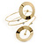 Contemporary Open Cut Circle, Crystal Upper Arm, Armlet Bracelet In Gold Plating - 27cm L - view 2