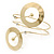 Contemporary Open Cut Circle, Crystal Upper Arm, Armlet Bracelet In Gold Plating - 27cm L - view 5