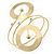 Contemporary Open Cut Circle, Crystal Upper Arm, Armlet Bracelet In Gold Plating - 27cm L - view 3