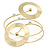 Contemporary Open Cut Circle, Crystal Upper Arm, Armlet Bracelet In Gold Plating - 27cm L - view 4