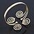 Greek Style Swirl Upper Arm, Armlet Bracelet In Gold Plating - 27cm L - Adjustable - view 4