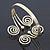 Greek Style Swirl Upper Arm, Armlet Bracelet In Gold Plating - 27cm L - Adjustable - view 9