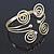 Greek Style Swirl Upper Arm, Armlet Bracelet In Gold Plating - 27cm L - Adjustable - view 10