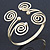 Greek Style Swirl Upper Arm, Armlet Bracelet In Gold Plating - 27cm L - Adjustable - view 7