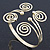 Greek Style Swirl Upper Arm, Armlet Bracelet In Gold Plating - 27cm L - Adjustable - view 11