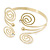 Greek Style Swirl Upper Arm, Armlet Bracelet In Gold Plating - 27cm L - Adjustable - view 12