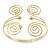 Greek Style Swirl Upper Arm, Armlet Bracelet In Gold Plating - 27cm L - Adjustable - view 8