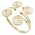 Greek Style Swirl Upper Arm, Armlet Bracelet In Gold Plating - 27cm L - Adjustable - view 13