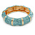Light Blue Enamel Segmental Hinged Bangle Bracelet In Gold Plating - 19cm L - view 6