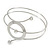 Silver Tone Open Circle Geometric with Clear Accent Upper Arm/ Armlet Bracelet - up to 27cm L - view 5