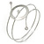 Silver Tone Open Circle Geometric with Clear Accent Upper Arm/ Armlet Bracelet - up to 27cm L - view 4