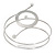 Silver Tone Open Circle Geometric with Clear Accent Upper Arm/ Armlet Bracelet - up to 27cm L - view 2