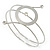 Silver Tone Open Circle Geometric with Clear Accent Upper Arm/ Armlet Bracelet - up to 27cm L - view 6