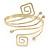 Greek Style Upper Arm, Armlet Bracelet In Gold Plating - 27cm L - Adjustable
