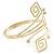 Greek Style Upper Arm, Armlet Bracelet In Gold Plating - 27cm L - Adjustable - view 5