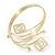 Greek Style Upper Arm, Armlet Bracelet In Gold Plating - 27cm L - Adjustable - view 3
