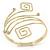 Greek Style Upper Arm, Armlet Bracelet In Gold Plating - 27cm L - Adjustable - view 2