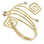 Greek Style Upper Arm, Armlet Bracelet In Gold Plating - 27cm L - Adjustable - view 4