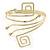Greek Style Upper Arm, Armlet Bracelet In Gold Plating - 27cm L - Adjustable - view 6