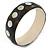 Dotted Shell Round Bangle Bracelet (Brown, White, Black) - 20cm L