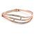Clear Crystal Bangle Bracelet In Rose Gold Tone Metal - 18cm L