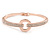 Clear Crystal Open Eternity Circle of Love Bangle Bracelet In Rose Gold Tone Metal - 19cm L