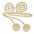 Gold Tone Hammered Circles And Swirls Upper Arm/ Armlet Bracelet - Adjustable - view 2