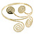 Gold Tone Hammered Circles And Swirls Upper Arm/ Armlet Bracelet - Adjustable - view 6