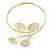 Gold Tone Hammered Circles And Swirls Upper Arm/ Armlet Bracelet - Adjustable - view 3