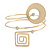Open Circle And Square Upper Arm/ Armlet Bracelet In Gold Tone - 27cm L - view 2