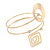 Open Circle And Square Upper Arm/ Armlet Bracelet In Gold Tone - 27cm L - view 6