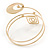 Open Circle And Square Upper Arm/ Armlet Bracelet In Gold Tone - 27cm L - view 5