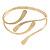 Polished Modern Leaves Upper Arm/ Armlet Bracelet In Gold Tone - Adjustable