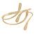 Polished Modern Leaves Upper Arm/ Armlet Bracelet In Gold Tone - Adjustable - view 6