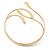 Polished Modern Leaves Upper Arm/ Armlet Bracelet In Gold Tone - Adjustable - view 3