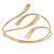 Polished Modern Leaves Upper Arm/ Armlet Bracelet In Gold Tone - Adjustable - view 4