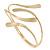 Polished Modern Leaves Upper Arm/ Armlet Bracelet In Gold Tone - Adjustable - view 2