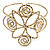 Egyptian Style Twirl Upper Arm, Armlet Bracelet In Hammered Antique Gold Plating - Adjustable