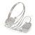Silver Plated Hammered Oval Leaf Upper Arm, Armlet Bracelet - Adjustable - view 2
