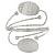 Silver Plated Hammered Oval Leaf Upper Arm, Armlet Bracelet - Adjustable - view 5